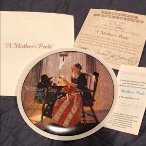 Norman Rockwell Plate 1980 A Mother's Pride